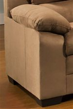 Contemporary Lines Create a Clean Modern Edge While Pillow Topped Cushions Accent Crisp Corners