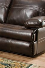 Plush Pillow Arms and Thick Pad-Over-Chaise Leg Rests Provide Exceptional Comfort