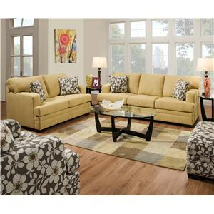 Simmons Upholstery 6491 Transitional Sofa with Track Arms