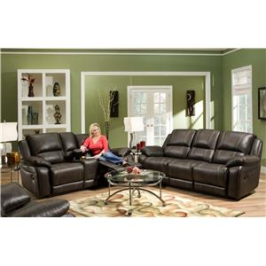 United Furniture Industries 660 Reclining Living Room Group