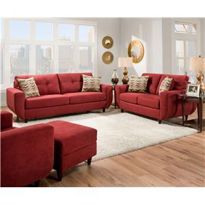 United Furniture Industries 6950 Stationary Living Room Group