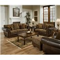 United Furniture Industries 8104 Stationary Living Room Group - Item Number: 8104 Living Room Group 1