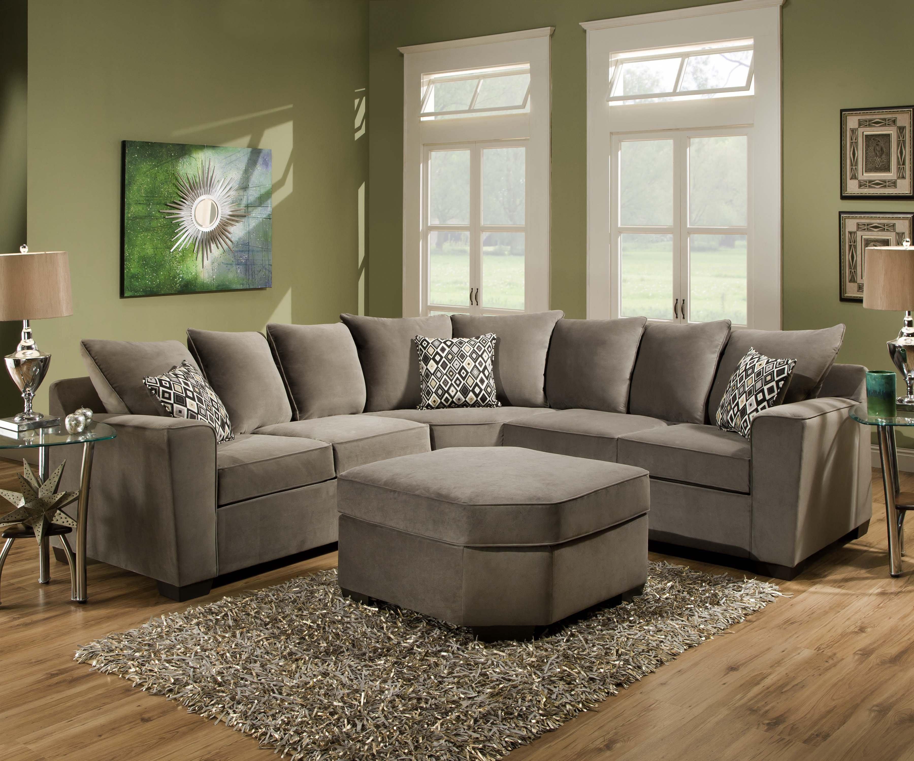 United Furniture Industries 9070 Transitional 2 Piece Sectional