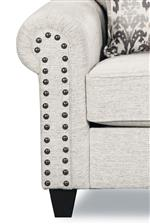 Spaced Nailhead Trim on Rolled Arm