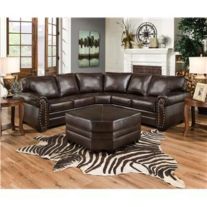 United furniture industries 9222 traditional sectional for J m furniture soho living room collection