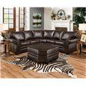 United Furniture Industries 9222 Stationary Living Room Group - Item Number: 9222 Espresso Living Room Group 1