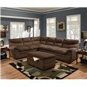 United Furniture Industries 9515 Stationary Living Room Group - Item Number: 9515 Chocolate Living Room Group 1