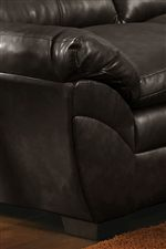 Angled Pillow Arm and Tapered Block Feet
