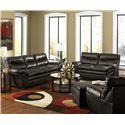 United Furniture Industries 9515 Stationary Living Room Group - Item Number: 9515 Espresso Living Room Group 1