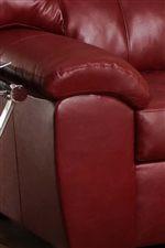 Plush Pillow Arms Provide Comfort & Repose