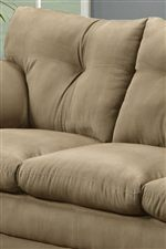 Plush Seats and Tufted Backs Add Casual Comfort with a touch of Style