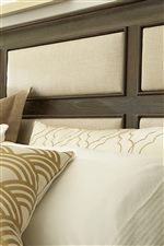 Grid Pattern Upholstered Headboard