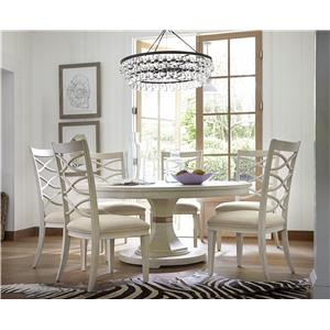 Universal California - Malibu Round Dining Table with 16