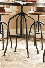 Tables and Chairs Feature Metal Pedestal Bases