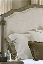 Linen-like Upholstery on the Bed's Headboard and Footboard