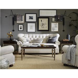Morris Home Furnishings Maxwell Traditional Sofa with Button Tufting