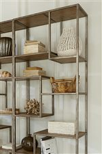 Aged Iron Metal Accents Provide Contemporary Appeal