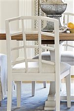 Open Lattice Back Chair Design
