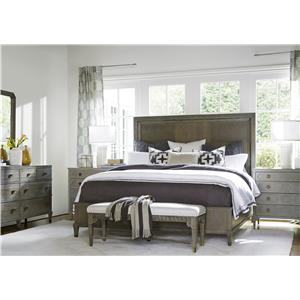 Universal Playlist Queen Harmony Bed with Upholstered Headboard