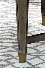 Metal Ferrules in a Brass Finish Provide a Touch of Flair