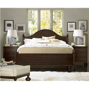 Universal Proximity Queen Sleigh Bed with Moldings