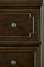 Architectural Beaded Overlays Decorate Select Drawers and Beds