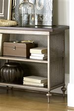 Mesh Metal Sides, Backs, and Shelves Bring an Urban Edge to Familiar Forms