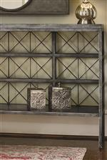 Metal Gridwork Creates Geometric Motifs