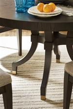 Universal Soliloquy Dahlia Round End Table