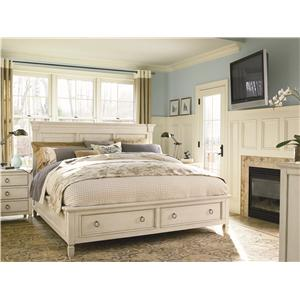 Universal Summer Hill Complete California King Panel Bed