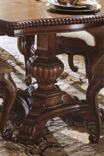 Turned Pedestal Bases with Scallop & Rope Twist Molding and Ornate Carvings