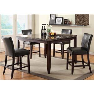 U.S. Furniture Inc 2720 Dinette Transitional Counter Height Dining Table with Upholstered Seat