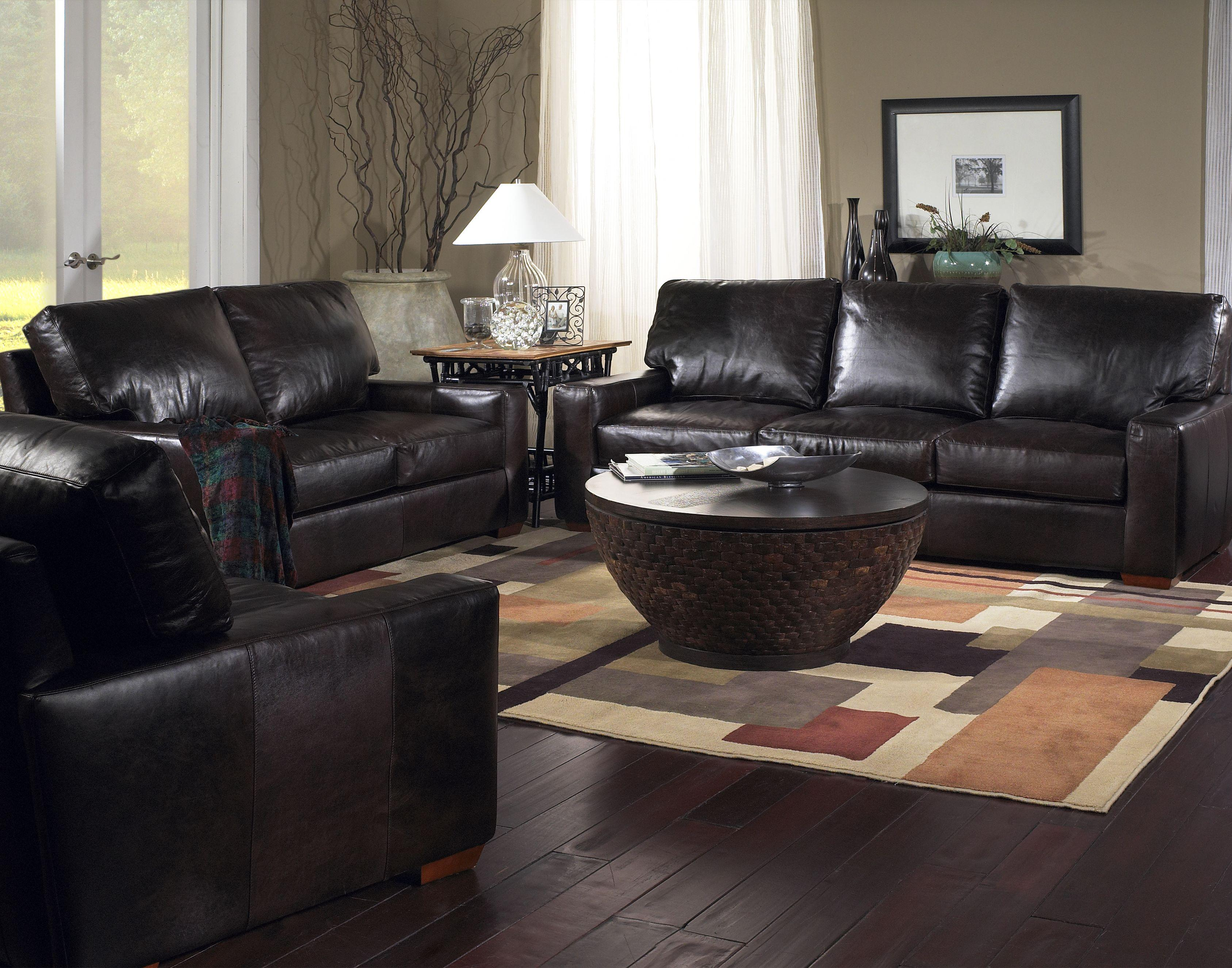 USA Premium Leather 2655 Stationary Living Room Group - Item Number: 2655 Living Room Group 1