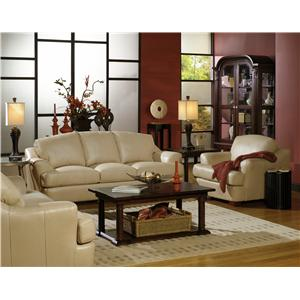 USA Premium Leather 3455 Stationary Living Room Group