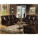 USA Premium Leather 3955 Stationary Living Room Group - Item Number: 3955 Living Room Group 1
