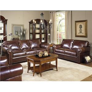 USA Premium Leather 4955 Stationary Living Room Group