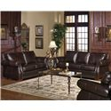 USA Premium Leather 5750 Stationary Living Room Group - Item Number: 5750 Living Room Group 1