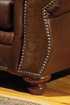USA Premium Leather 8555 Traditional Leather Sofa With Nailhead Trim |  Howell Furniture | Sofa