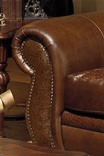 Rolled Arm with Nailhead Trim