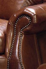 Flared Roll Arms with Nailhead Trim and Alligator