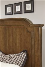 Shaped Top Molding on Mansion Bed