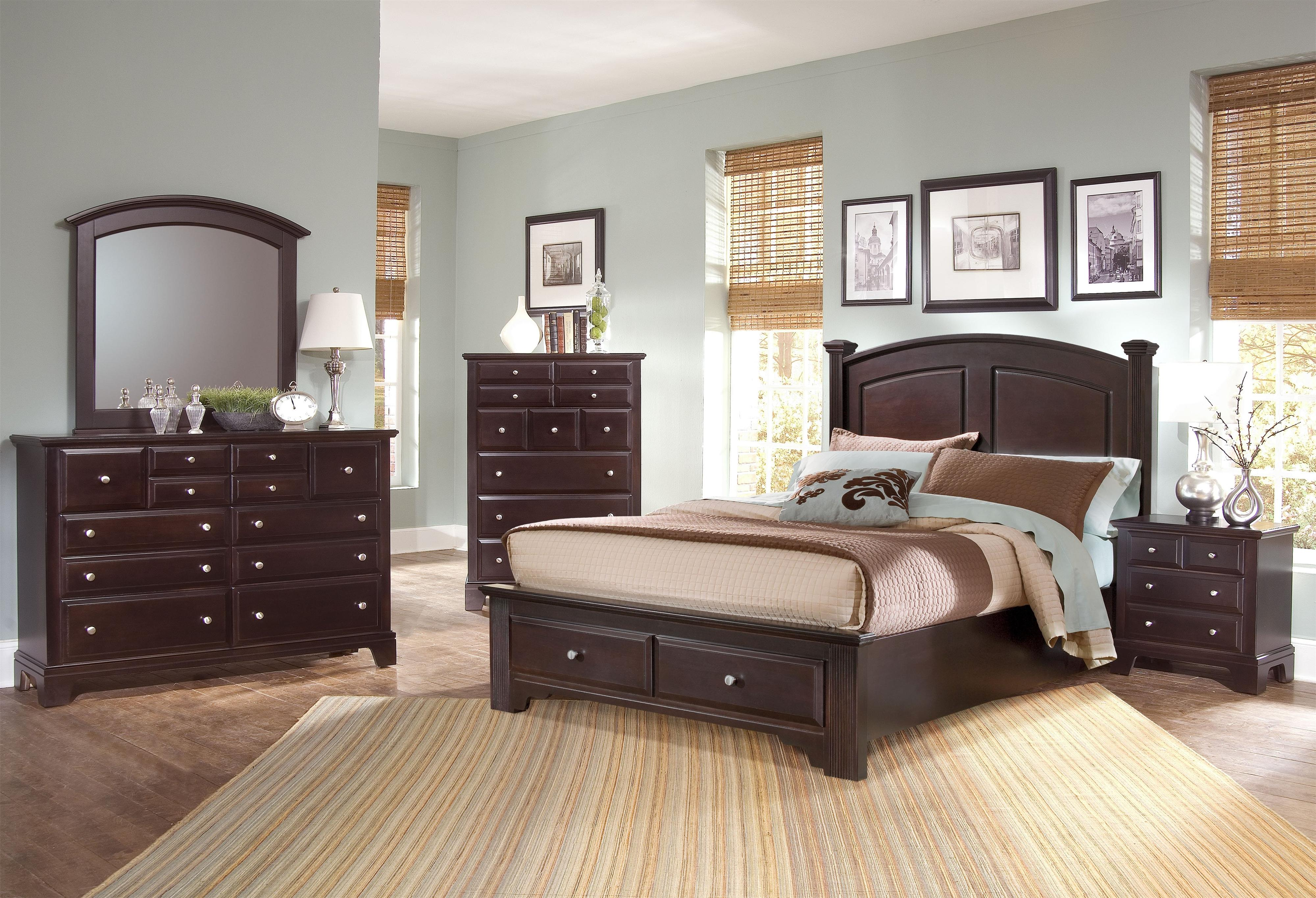 bassett set group transitions furniture vaughan american cherry pic darvin sets bedroom queen