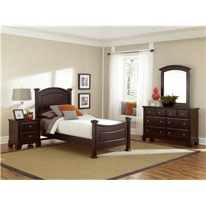 Vaughan Bassett Hamilton/Franklin King Panel Bed
