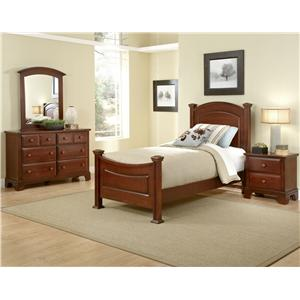 Vaughan Bassett Hamilton/Franklin Full Panel Storage Bed