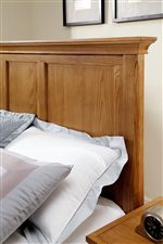 Panel Headboard with Top Moulding