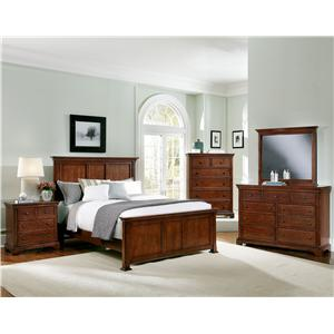 Vaughan Bassett Forsyth 8 Drawer Dresser and Landscape Mirror