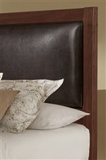 Chocolate Bonded Leather Upholstered Headboard