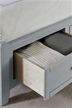 Footboard Storage Available in Select Bed Sizes