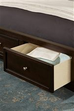 Footboard Storage Option Available in Select Bed Sizes