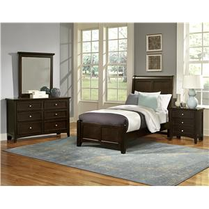 Vaughan Bassett Bonanza Queen Sleigh Bed with Low Profile Footboard